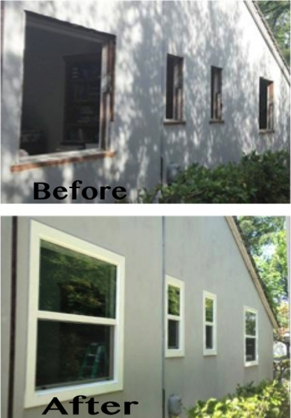 Before-After Window Installation