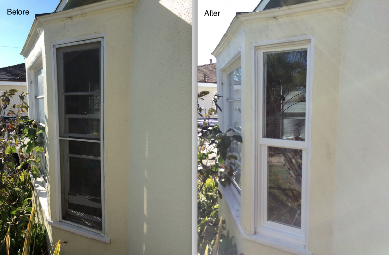 Before: Wood... After: Vinyl